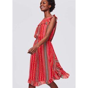 LOFT Sirena Ruffle Dress